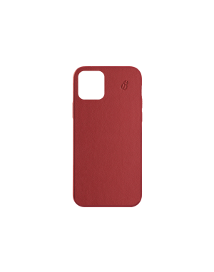 Coque cuir rouge Beetlecase iPhone 12