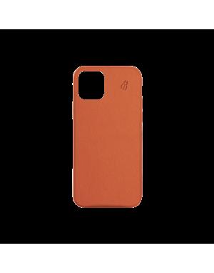 Coque cuir orange beetlecase iPhone 12