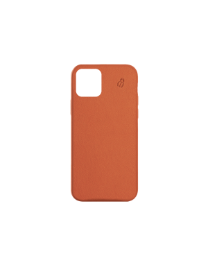 Coque cuir orange beetlecase iPhone 12 Max