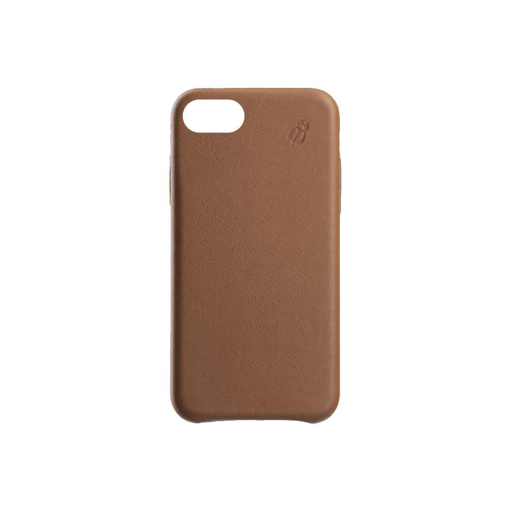 Coque cuir camel Beetlecase iPhone 6 / 7 / 8