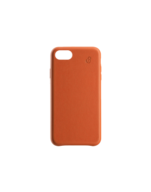 Coque cuir orange Beetlecase iPhone 6 / 7 / 8