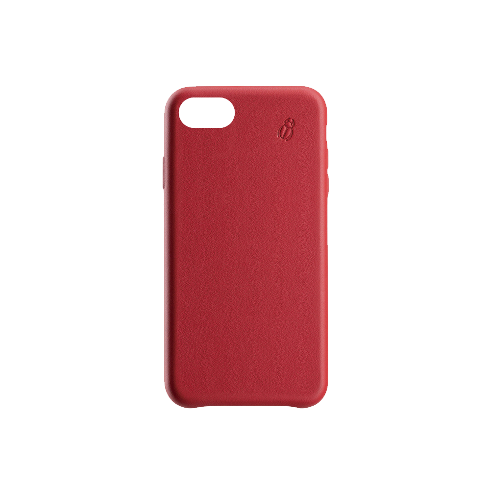coque cuir rouge iphone 7 plus