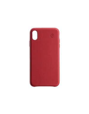 Coque cuir rouge Beetlecase iPhone Xs