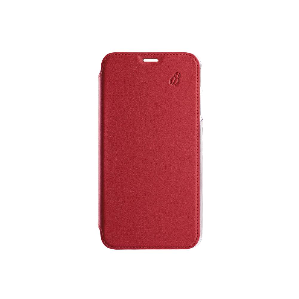 Folio crystal rouge Beetlecase iPhone Xs