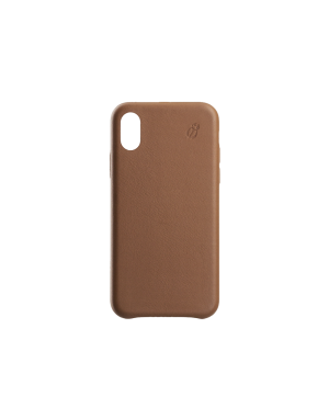 Coque cuir camel Beetlecase iPhone Xs