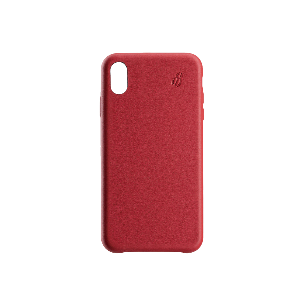 coque cuir rouge beetlecase iphone xs max