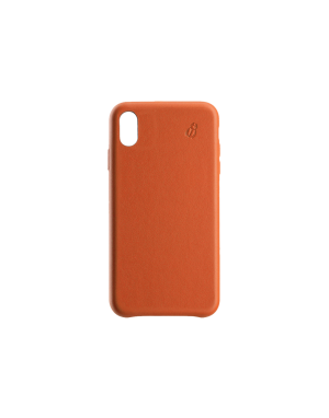 Coque cuir orange Beetlecase iPhone Xr