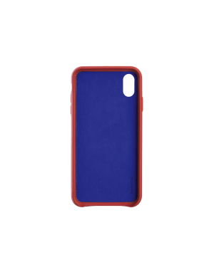 Coque cuir rouge Beetlecase iPhone Xr