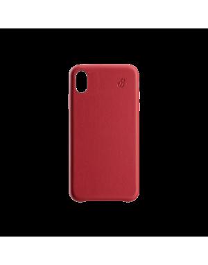 Coque cuir rouge Beetlecase iPhone Xr