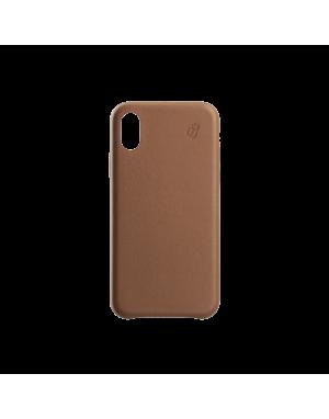 Coque cuir camel Beetlecase iPhone Xr