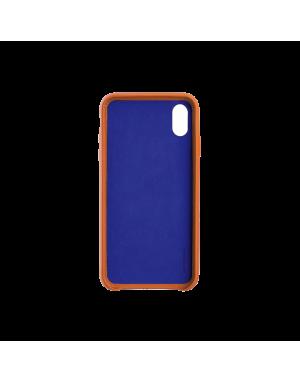 Coque cuir orange Beetlecase iPhone Xr