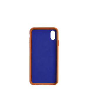 Coque cuir orange Beetlecase iPhone Xs