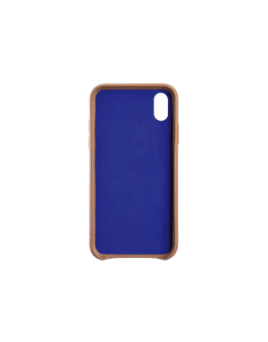 Coque cuir camel Beetlecase iPhone Xr