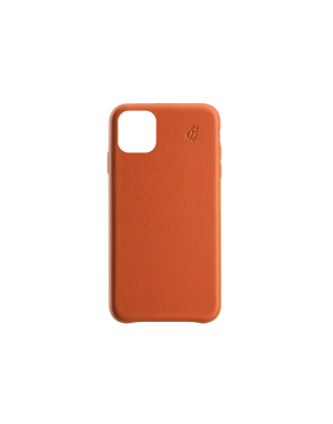 Coque cuir orange Beetlecase iPhone 11