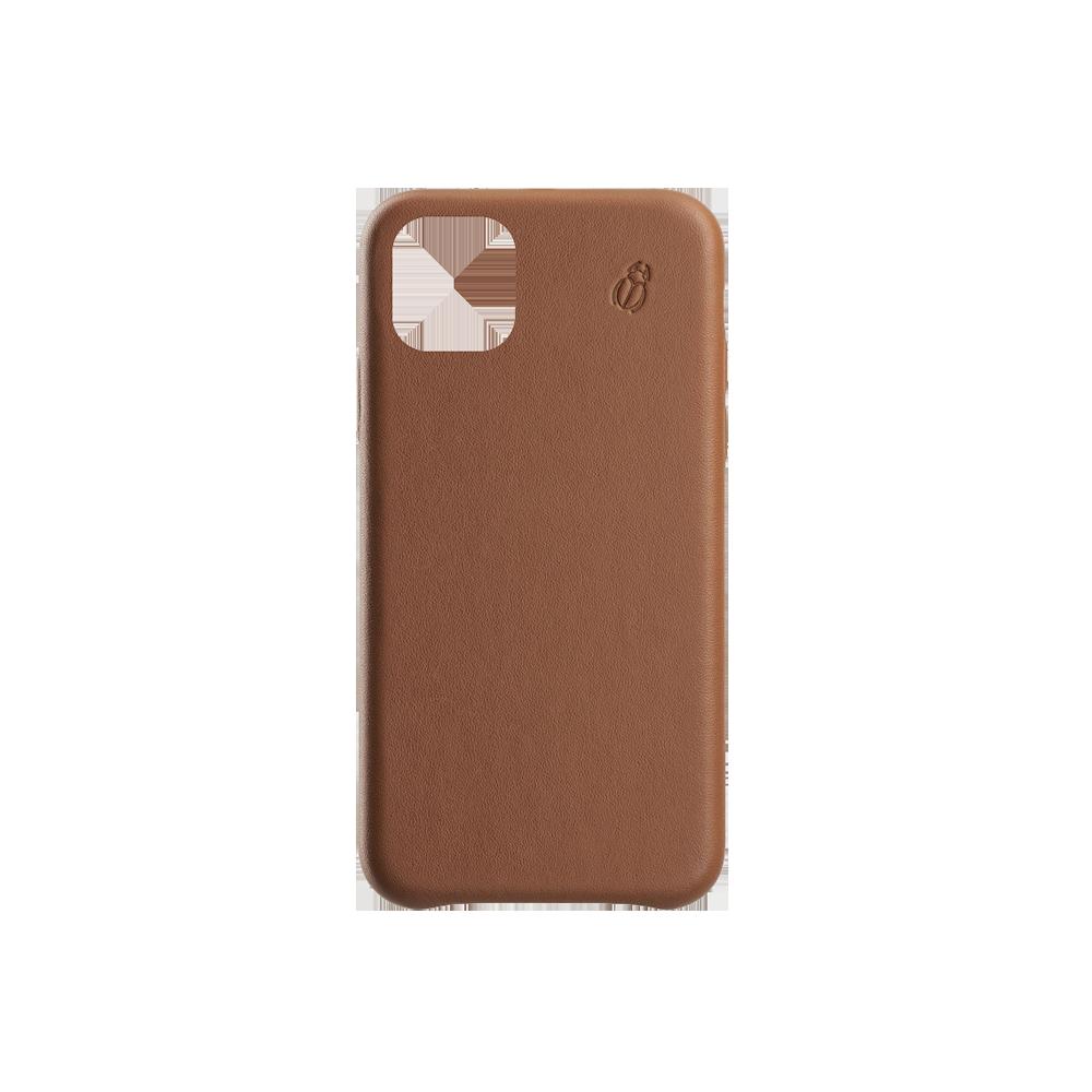 Coque cuir camel iPhone 11