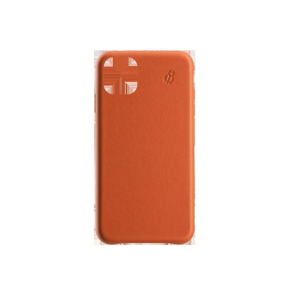 coque cuir orange iphone 11 pro max