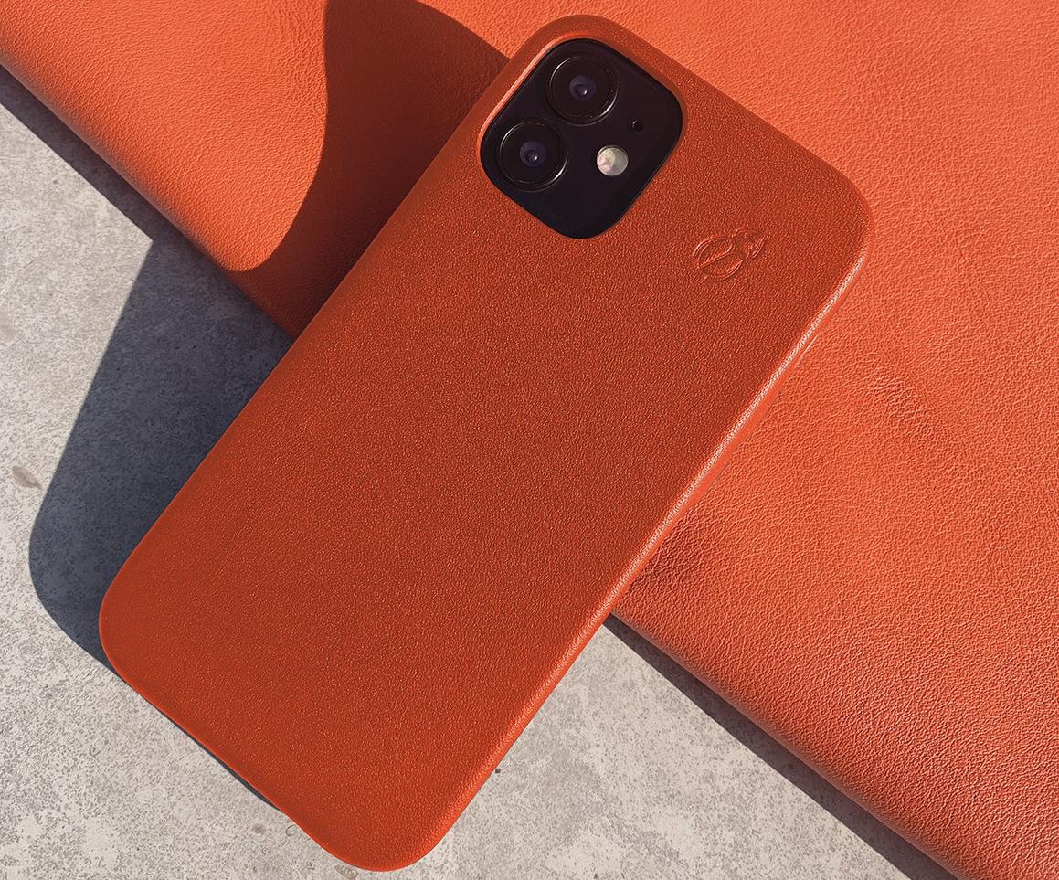 Coque de protection en cuir pour iPhone 12